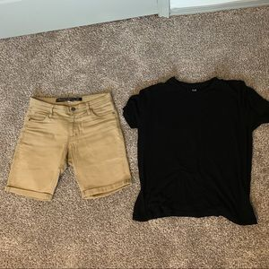 Men's Factorie Khaki Shorts (+ free Gap Tee!)